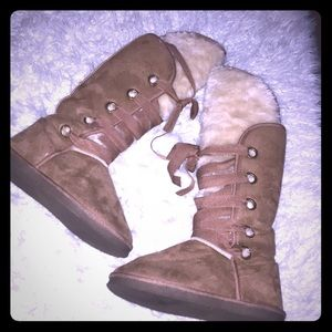 Brown Fuzzy Boots